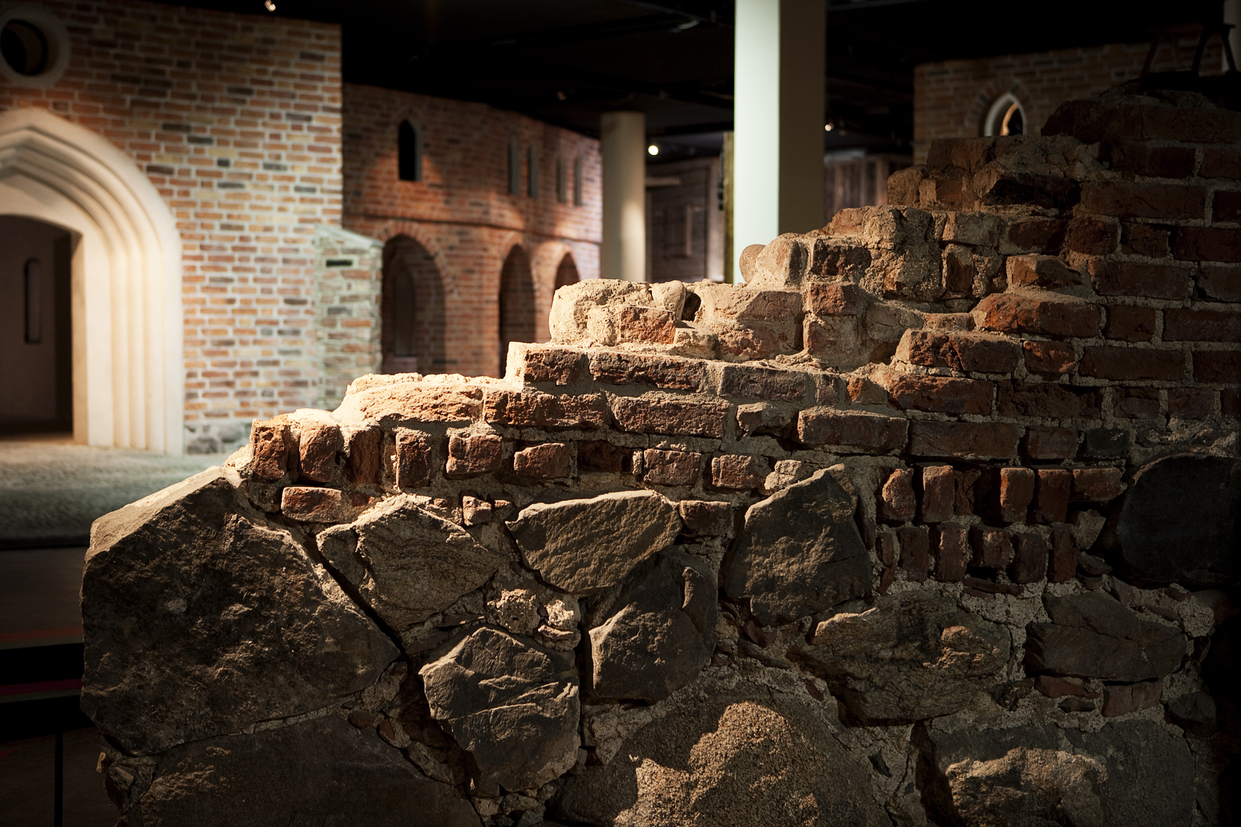 Part of the city wall in the exhibition.
